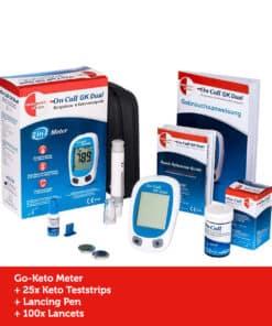 GK Dual Ketone Meter Kickstart Set Basic (incl. 25 Ketone Teststrips)