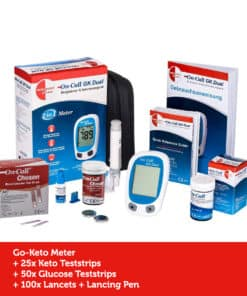 GK Dual Ketone Meter Kickstart Deluxe (incl. 25 Teststrips and 50 Glucose Teststrips)