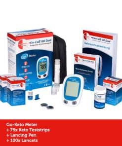 GK Dual Ketone Meter Kickstart Set (incl. 75 Ketone Teststrips)
