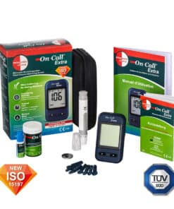 The On Call Extra Bloodsugar Glucosemeter is ISO and TUV certified