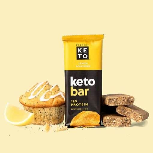 Perfect Keto - Keto Bars Lemon Poppyseed