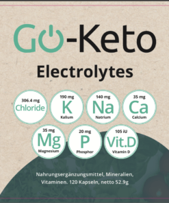 Go-Keto Electrolytes Label