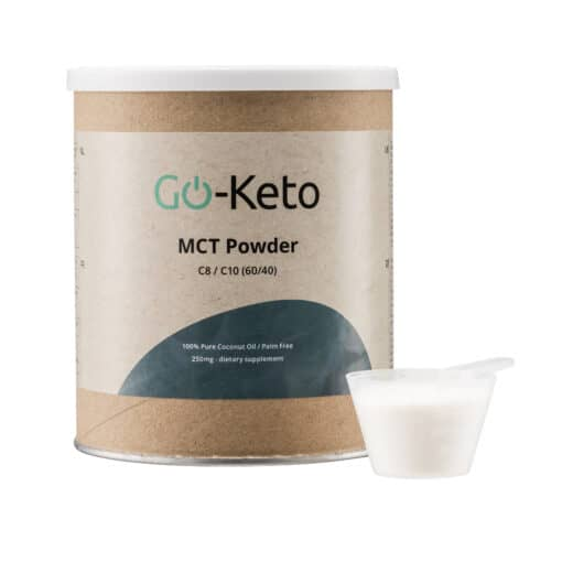 Go-Keto Premium MCT Powder (C8/C10) 60/40 with scoop