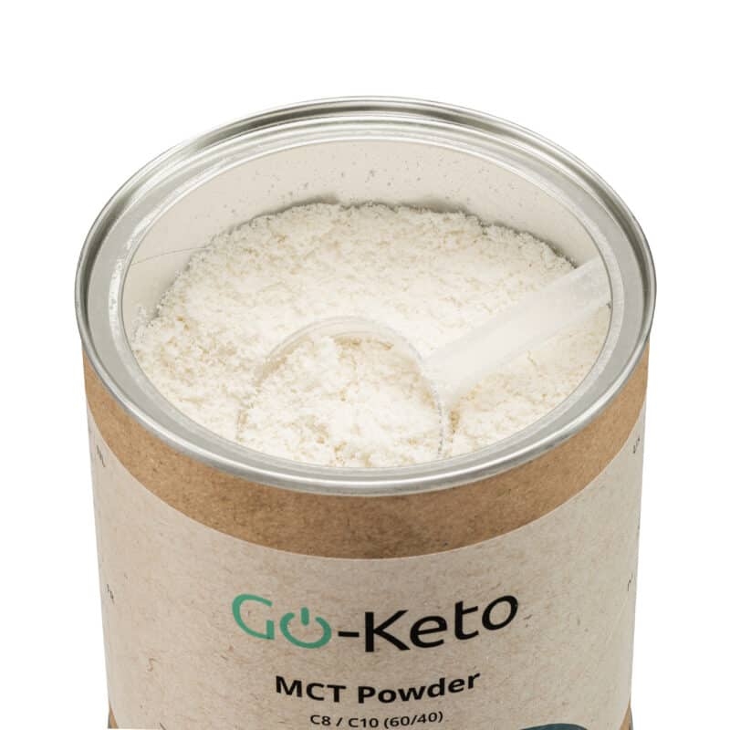 Go-Keto Premium MCT Powder (C8/C10) 60/40 inside