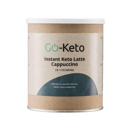 Go-Keto MCT Powder Instant Latte Cappuccino Coffee (C8/C10) 60/40 front