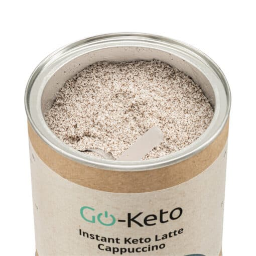 Go-Keto MCT Powder Instant Latte Cappuccino Coffee (C8/C10) 60/40 inside