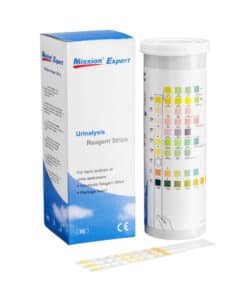 SwissPointofCare Mission Urine Teststrips 11 Parameters box and canister back