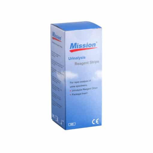SwissPointofCare Mission Urine Teststrips 14 Parameters box front