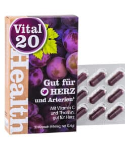 Vital20 Gut fur Herz - Resveratrol, OPC, Vitamine C, B1 (Thiamine)