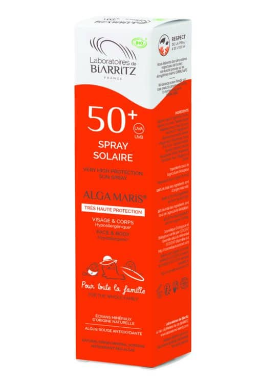 Alga Maris Organic Sunscreen Spray SPF50+ 150ml Pack