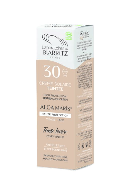 Alga Maris Organic Tinted Face Sunscreen SPF30 (Ivory) 50ml pack front