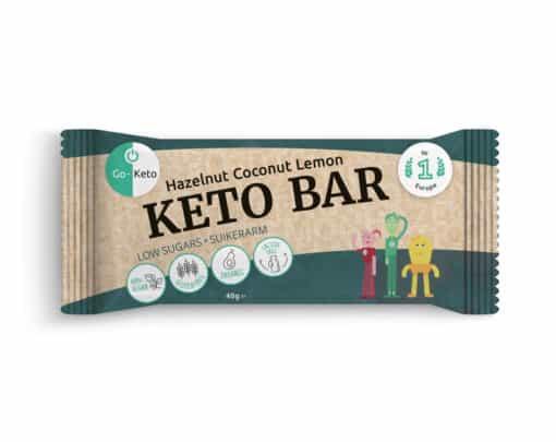 Go-Keto Bar – Hazelnut, Cocos, Lemon (12x)