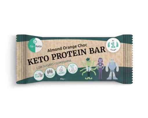Go-Keto Proteine Bar – Orange Choc with Almonds (16x)