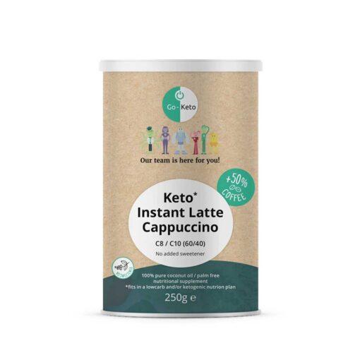Keto Koffie - Instant Latte Cappuccino Geen toegevoegde zoetstof